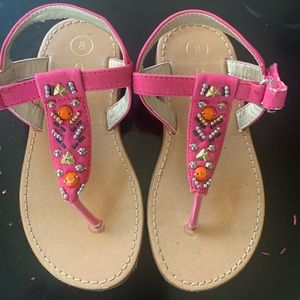 Cherokee Shoes - Pink beaded sandals